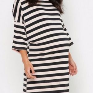 Maternity Stripe T-Shirt Dress